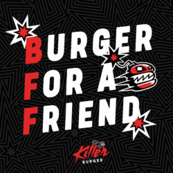 burger for a friend card design